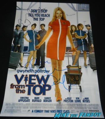 Gwyneth Paltrow signed autograph a view from the top mini poster candace bergen