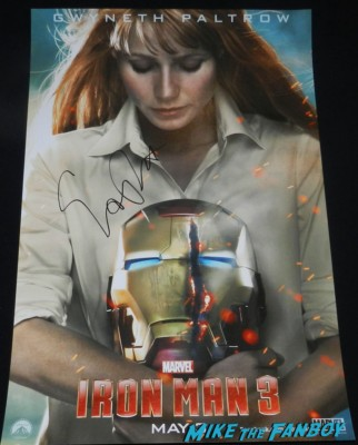 Gwyneth Paltrow signed autograph iron man 3 individual promo movie poster rare hot