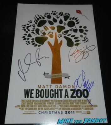 we bought a zoo mini poster matt damon scareltt johansson signed autograph patrick fugit