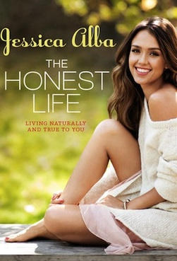 jessica alba the honest life book cover signed autograph