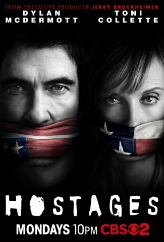 hostages-cbs-poster promo key art toni collette dylan mcdermott rare