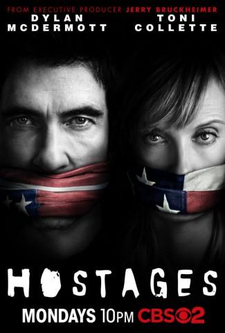 hostages-cbs-poster promo key art toni collette dylan mcdermott rare