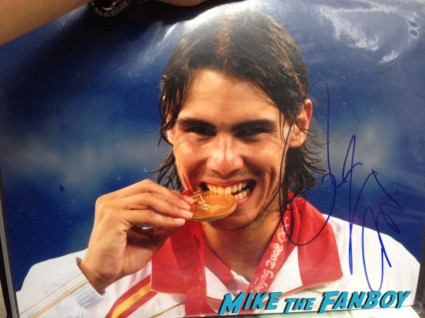 rafael nadal signing autographs for fans hot sexy tennis star rare