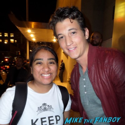 Miles Teller signing autographs for fans video music awards rare