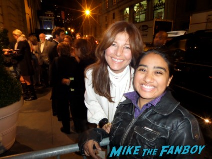 Catherine Keener signing autographs for fans enough said new york movie premiere rare promo