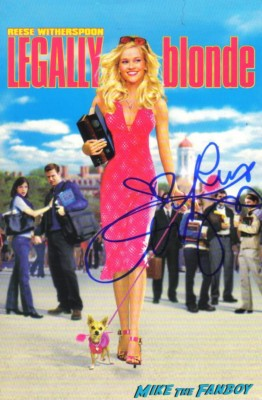 reese witherspoon signed legally blonde mini poster rare one sheet reese witherspoon signing autographs for fans legally blonde promo poster rare