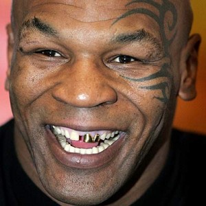 mike tyson toothless missing front teeth rare