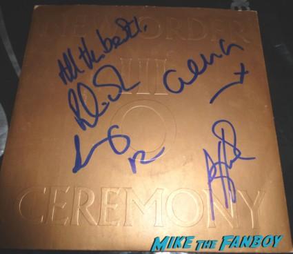 new order peter hook signed autograph album ceremony album lp rare