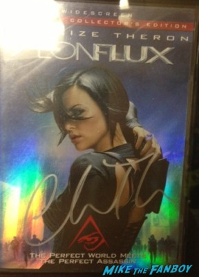 Charlize Theron signed autograph aeon flux rare promo dvd cover signing autographs rare