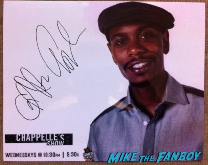 Dave Chappelle signed autograph photo rare comedy tour promo
