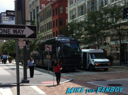 Dave Chappelle's tour bus arriving in PA for his comedy tour rare Dave Chappelle signed autograph photo rare comedy tour promo