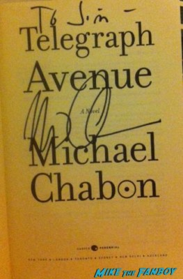 Michael Chabon q and a rare signing autographs for fans photo