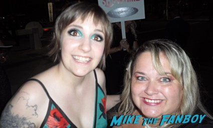 lena dunham fan photo signing autographs rare girls star hot
