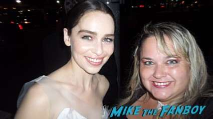 Emilia Clarke fan photo signing autographs rare game of thrones