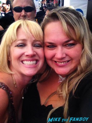 lindsay from I am not a stalker with pinky lovejoy at the emmy awards