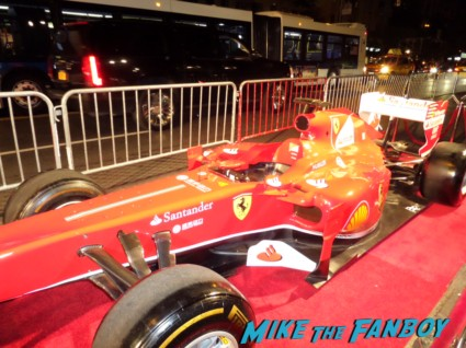 rush new york movie premiere red carpet props race cars rare