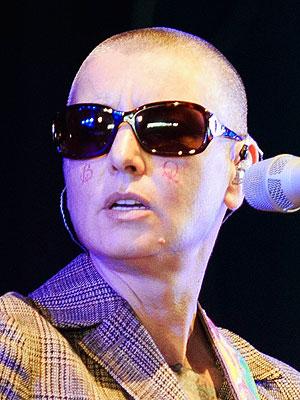 sinead o'connor face tattoo rare new bald lesbian preacher