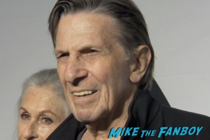 leonard nimoy on the red carpet at the star trek into darkness blu ray party simon pegg jj abrams red carpet (3)