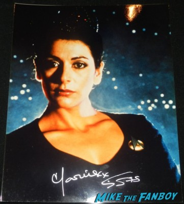 Marina Sirtis signed autograph photo rare star trek ttm autograph collecting rare william shatner 011