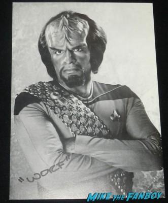 michael dorn pre print autograph worf star trek ttm autograph collecting rare william shatner 019