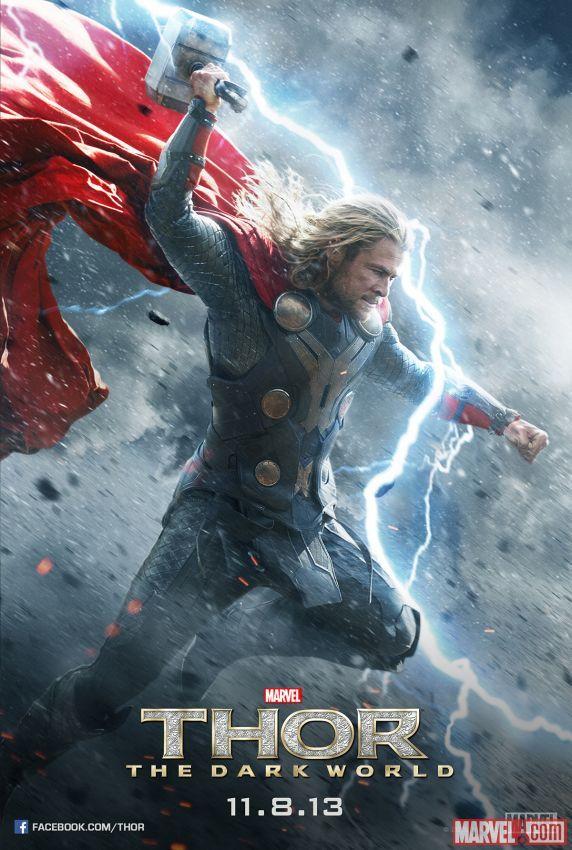 thor_poster_1 Thor: The Dark World movie poster logo chris hemsworth rare hot thor 2 one sheet teaser individual poster