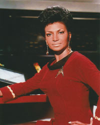 nichelle nichols signed autograph photo uhura star trek