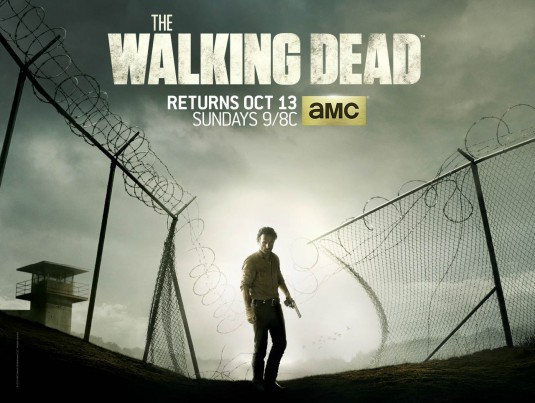 walking_dead_ver28 The Walking Dead logo title rare amc season 4 promo poster