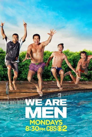 we-are-men promo poster cbs new series key art We are men cast q and a jerry o'connell tony shaloub
