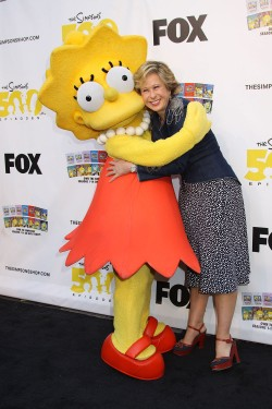 Lisa Simpson and Yeardley Smith yeardley smith the simpsons animated character lisa simpsons