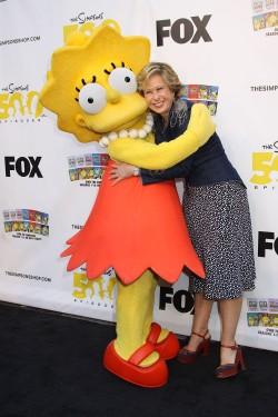 Lisa Simpson and Yeardley Smith yeardley smith the simpsons animated character lisa simpsons