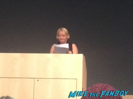 Glee star Lauren potter giving a speech at University of Nevada