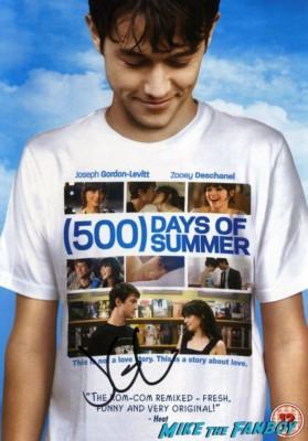 joseph gordon levitt signed 500 days of summer dvd sleeve poster