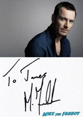 Michael Fassbender signing autographs for fans photo rare promo prometheus