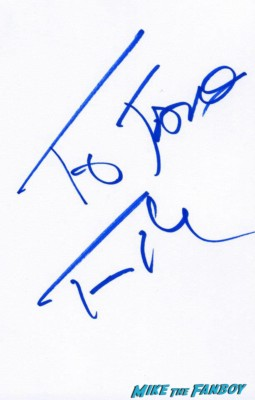 Tom hanks signed autograph card rare London film festival captain phillips red carpet