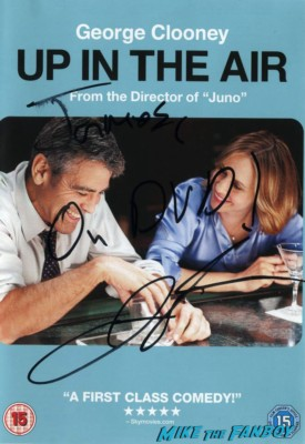 James signed autograph up in the air dvd cover rare promo jasno reitman dvd