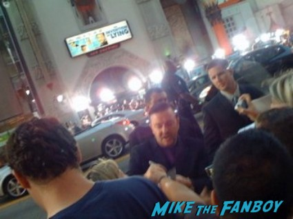 Ricky Gervais signing autographs invention of lying movie premiere