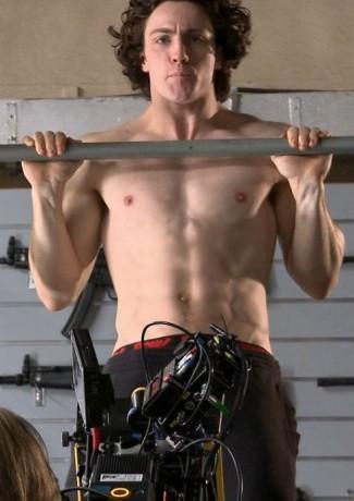 Aaron Taylor-Johnson shirtless quicksilver hot sexy abs nuke pecs muscle