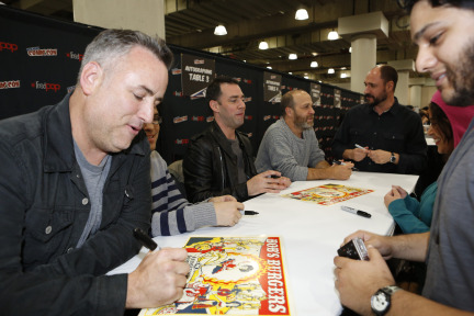 FOX FANFARE AT NEW YORK COMIC CON: BOB'S BURGERS cast and creator greet and sign autographs for fans at the New York Comic Con on Friday, Oct. 11 at Javits Center in New York, NY.  CR: Craig BlankenhornFOX