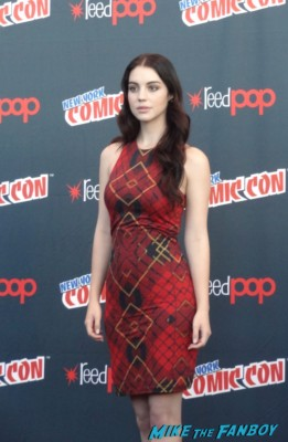 Adelaide Kane nycc press room rare promo red carpet hot