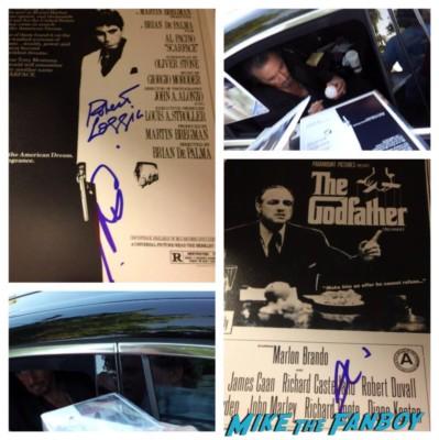 Al pacino signing autographs for fans Al pacino signing autographs