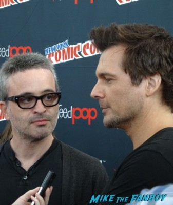 Alex and Len wiseman sleepy hollow press room nycc 2013