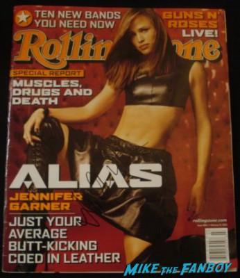 Jennifer Garner signed autograph rolling stone magazine cover