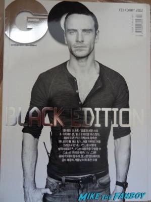 Michael Fassbender signed autograph Korean GQ magazine rare