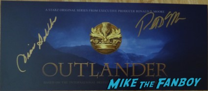 outlander signed autograph postcard rare ron moore