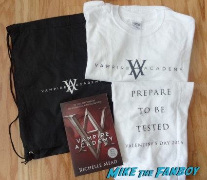 vampire academy swag bag nycc 2013