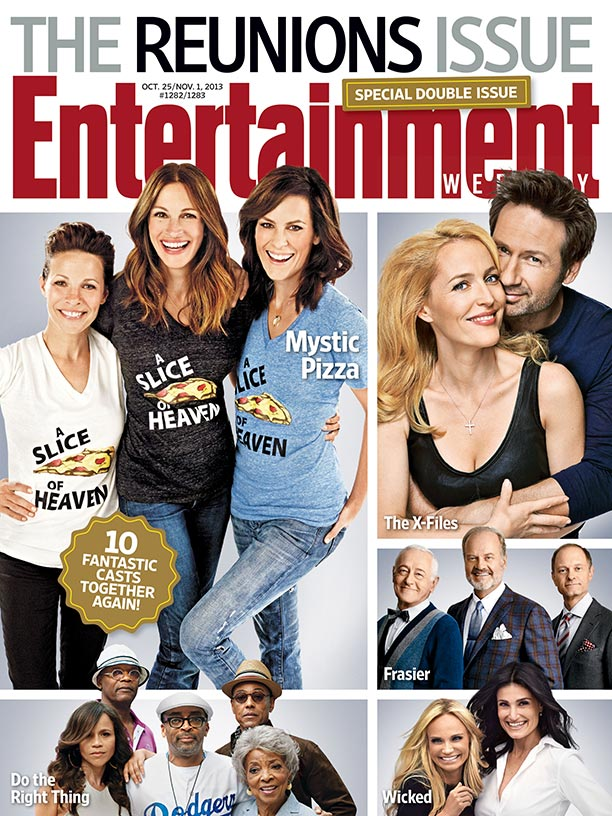frasier entertainment weekly reunion magazine cover photo rare promo kelsey grammer david hyde pierce