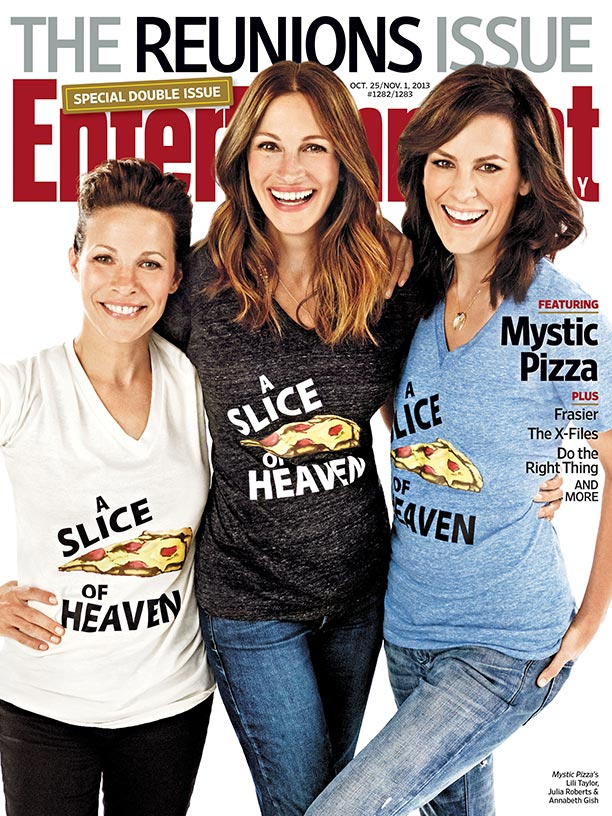Mystic Pizza entertainment weekly reunion magazine cover photo rare promo julia roberts annabeth gish lili taylor