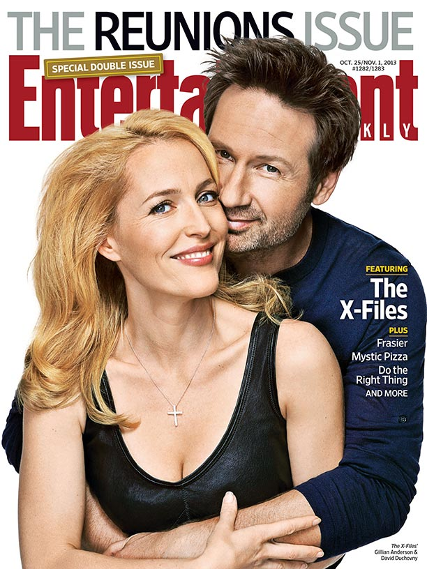 x-files entertainment weekly reunion magazine cover photo rare promo gillian anderson david duchovny