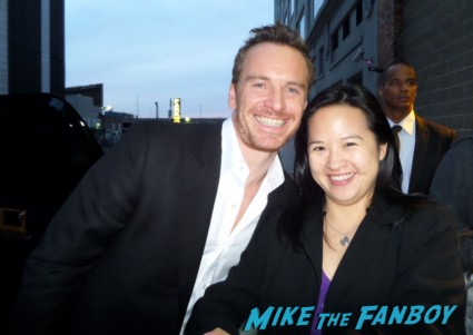 Michael Fassbender signing autographs for fans hot sexy rare