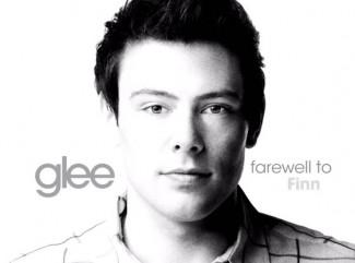 Glee farewell to Finn poster Corey Monteith rare